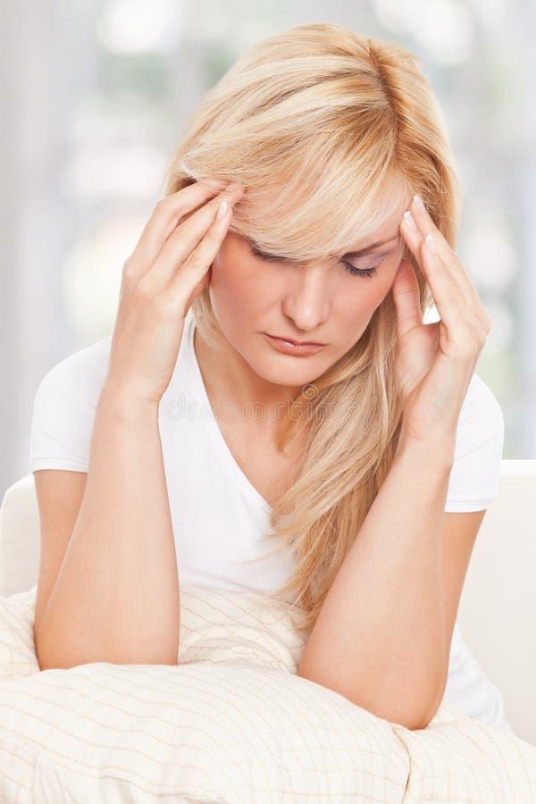 piękno migreny kobiety fotografia stock