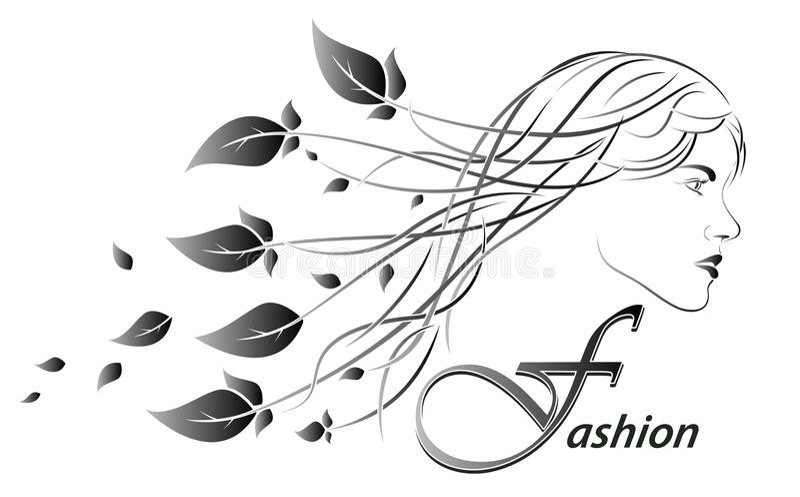 Piękno Modna dziewczyna twarzy kwiecista fryzury sylwetki kobieta abstrakcjonistyczni tło kwiaty również zwrócić corel ilustracji royalty ilustracja
