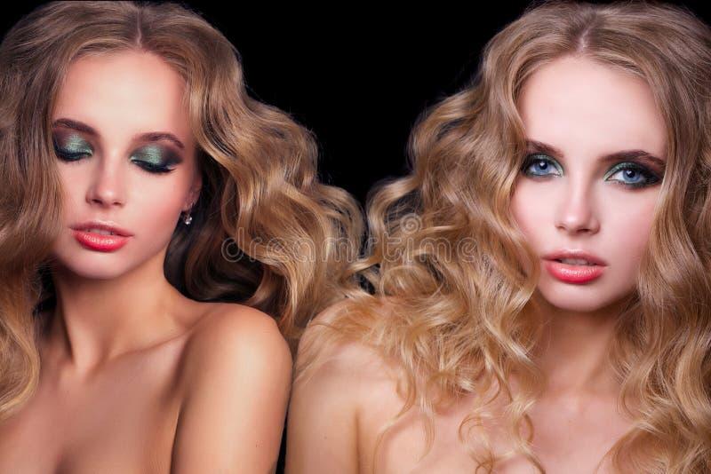 Piękno mody modela kobieta, portret zdjęcie stock