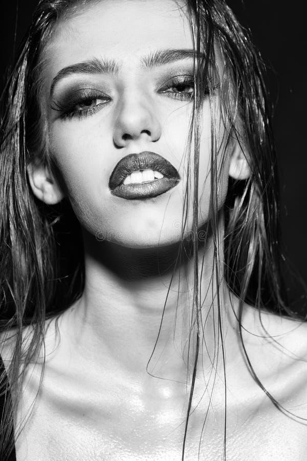 Piękno mody modela portret portret seksowna kobieta zdjęcia stock