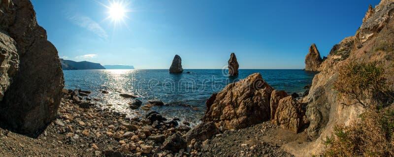 Piękno natury morza krajobraz Crimea zdjęcia royalty free