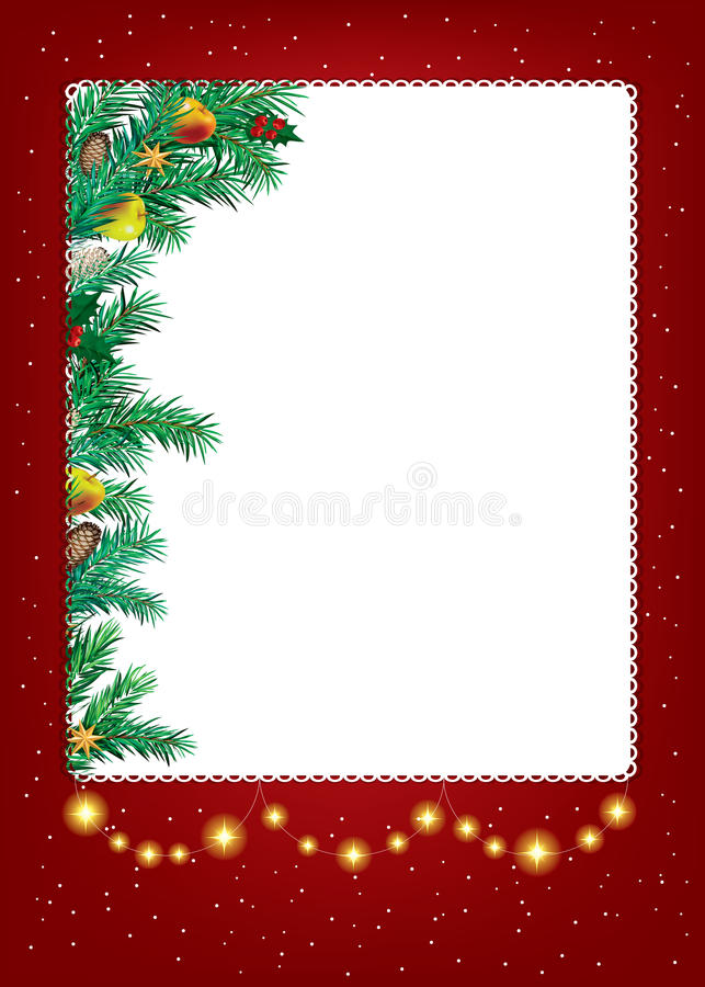 Piękno Nowego Roku Bożych Narodzeń abstrakcjonistyczny tło i ilustracji