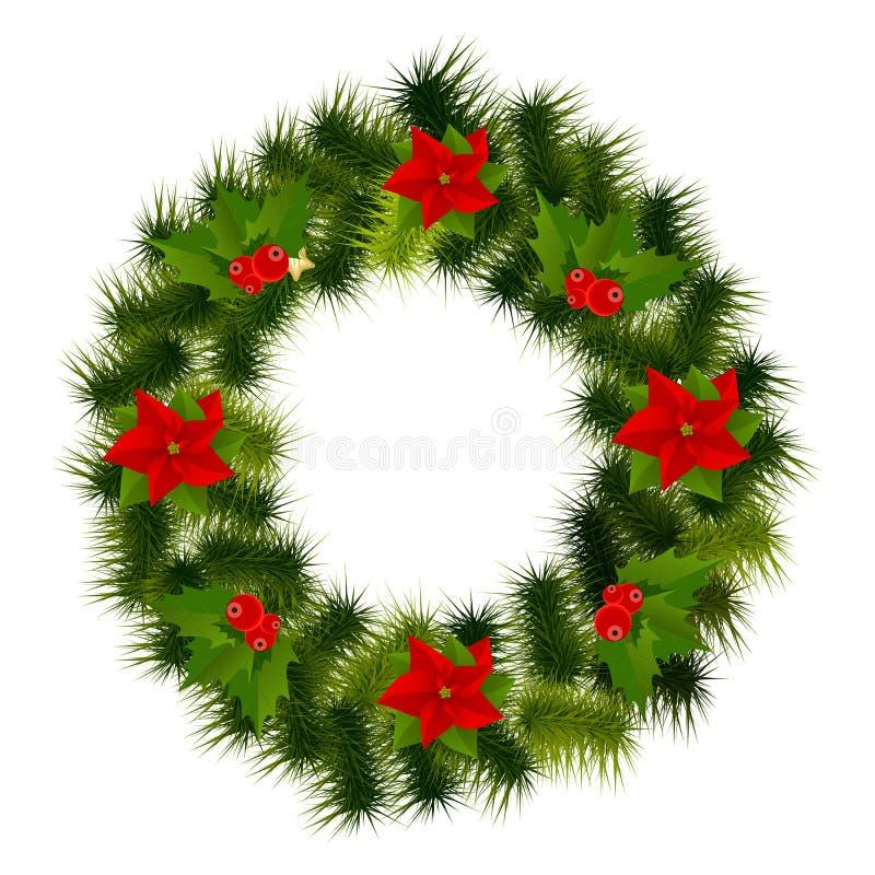Piękno Nowego Roku Bożych Narodzeń abstrakcjonistyczny tło i royalty ilustracja
