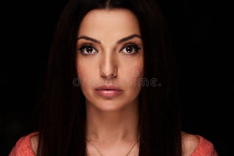 Piękno portret ładna kobiety twarz obraz stock