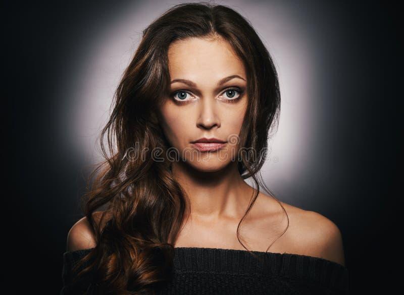 Piękno portret żeńska twarz zdjęcie stock