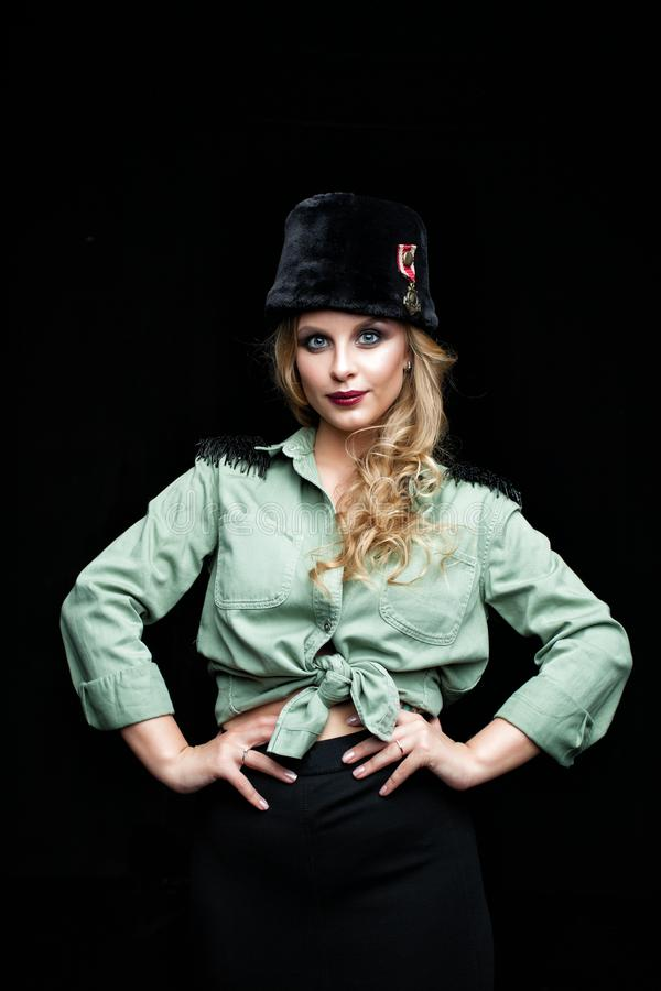 Piękno portret młodej kobiety mody model zdjęcia royalty free