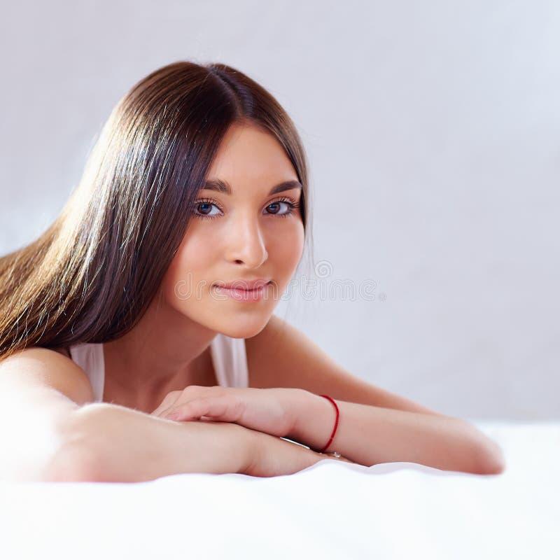 Piękno portret piękna rodowity amerykanin dziewczyna obraz stock