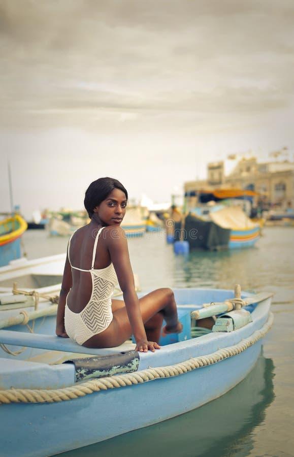 Piękno w łodzi zdjęcie royalty free