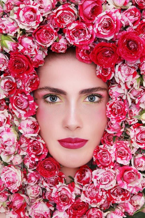 Piękno w różach zdjęcia stock