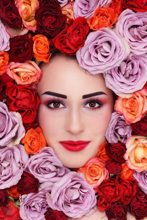 Piękno w różach zdjęcia royalty free