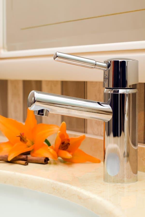 piękny łazienki faucet obrazy stock