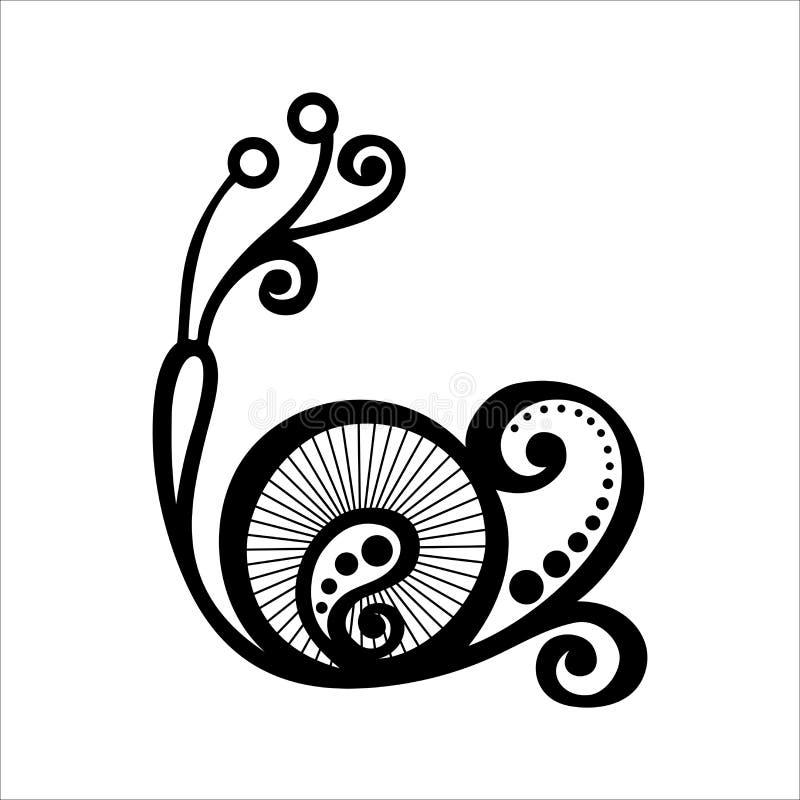 Piękny ślimaczek, Egzotyczny insekt royalty ilustracja