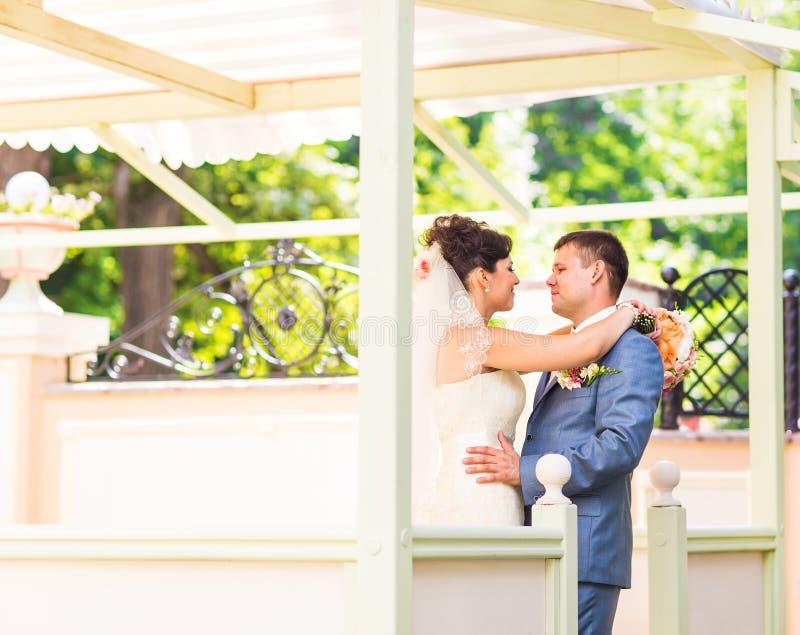Piękny ślub, mąż i żona, kochankowie obsługujemy kobiety, państwo młodzi fotografia royalty free