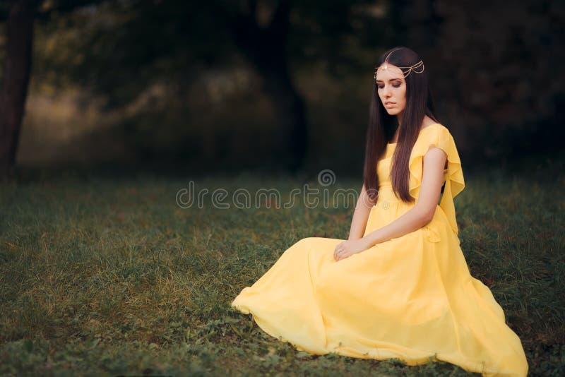 Piękny Średniowieczny Princess bajki fantazi portret obraz stock