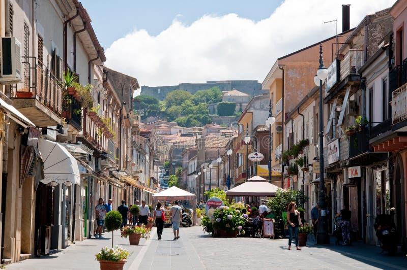 Piękny środkowy kurs vibo Valentia w Calabria zdjęcie stock