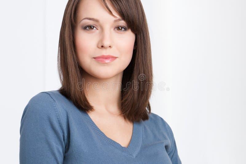 Piękny żeński kierownika portret zdjęcia stock