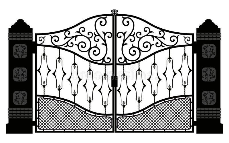 Piękny żelazny ornament zakazuje ilustrację eps 10 ilustracja wektor