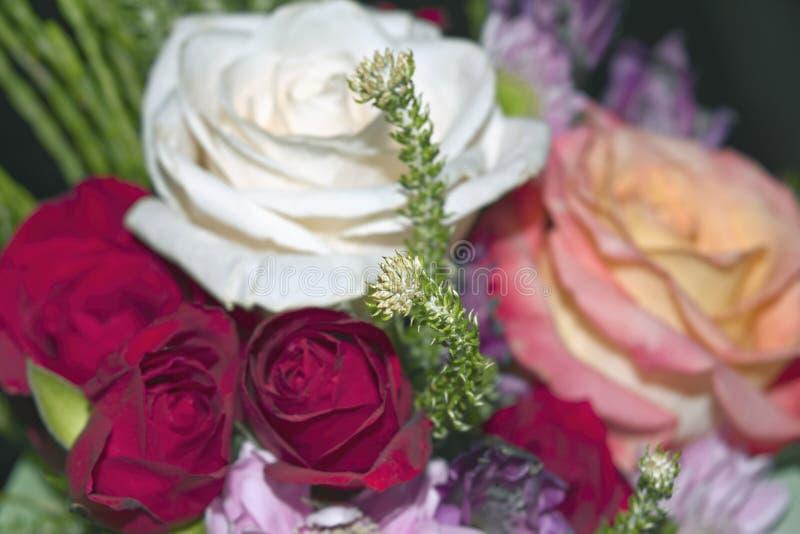 Piękny żywy bukiet mieszani kwiaty zdjęcia stock