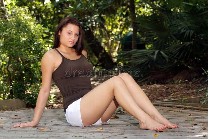 piękny (1) piękna brunetka obrazy stock
