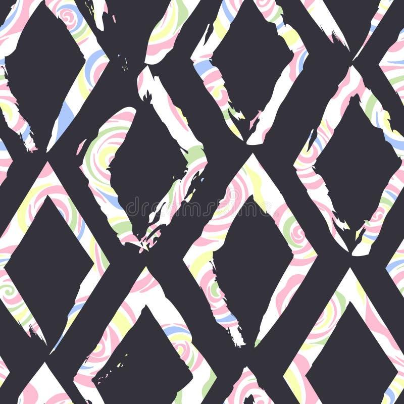 Piękny abstrakcjonistyczny bezszwowy wektoru wzoru tło Doskonalić dla tapet, stron internetowych tła, nawierzchniowe tekstury royalty ilustracja