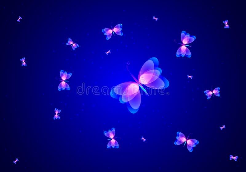Piękny abstrakcjonistyczny motyl royalty ilustracja