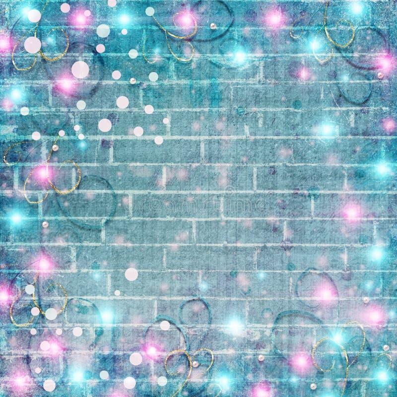 Piękny abstrakcjonistyczny tło z jaskrawymi światłami dla kartek bożonarodzeniowa ilustracja wektor