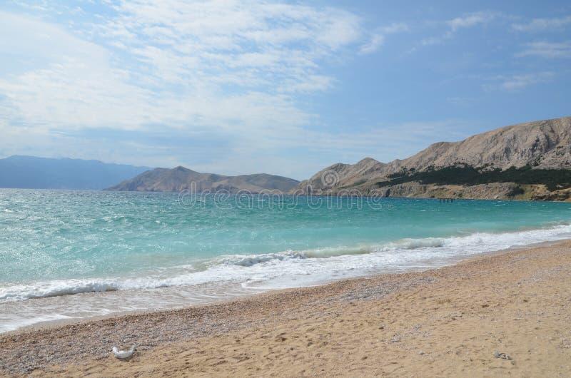 Piękny Adriatycki morze w lecie 2015 obraz stock
