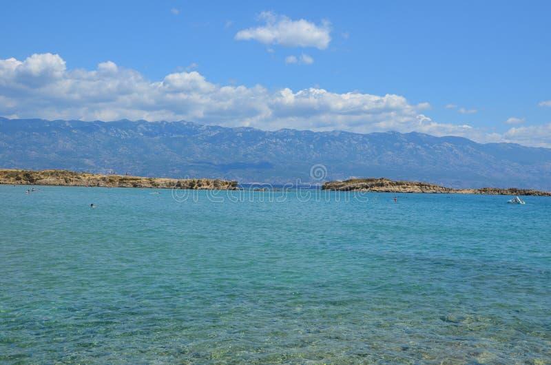 Piękny Adriatycki morze w lecie 2015 zdjęcie stock