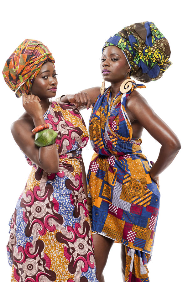 Piękny Afrykański mody modesl w tradycyjnej sukni. zdjęcie royalty free