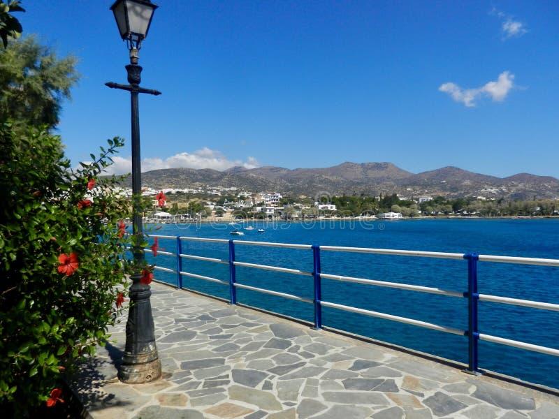 Piękny Agios Nikolaos, Kreta zdjęcia royalty free