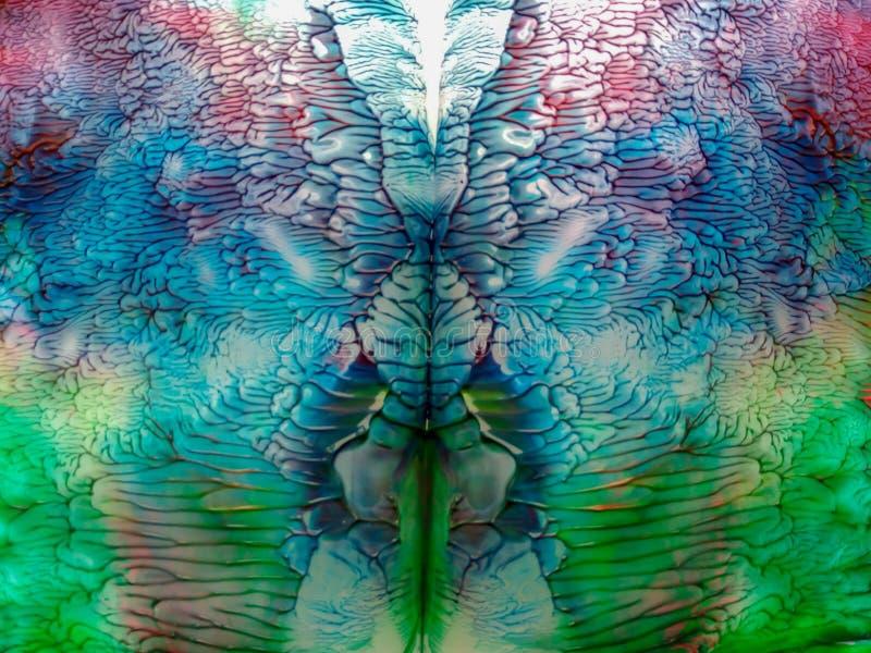 Piękny akwarela kalejdoskopu grafiki abstrakt royalty ilustracja