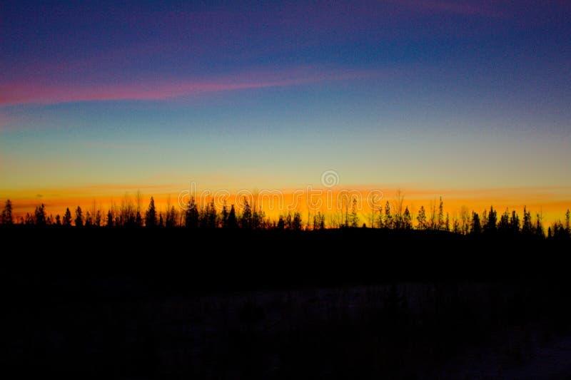PIĘKNY ALBERTA wschód słońca fotografia stock