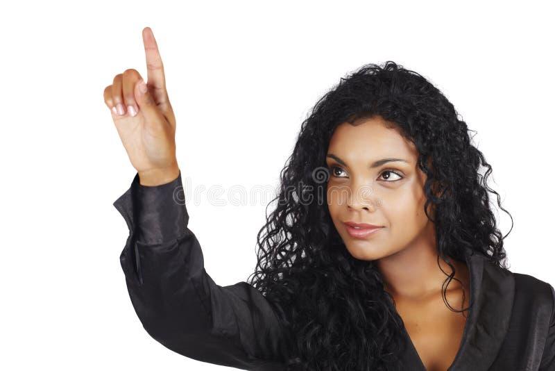 piękny Amerykanin afrykańskiego pochodzenia bizneswoman zdjęcia royalty free