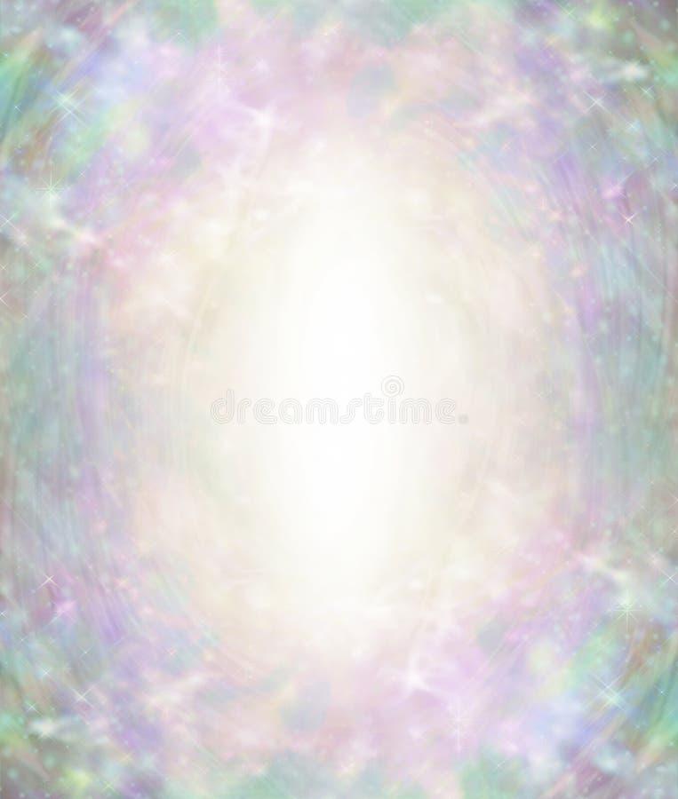 Piękny Anielski Eteryczny światło wybuchu tło ilustracji