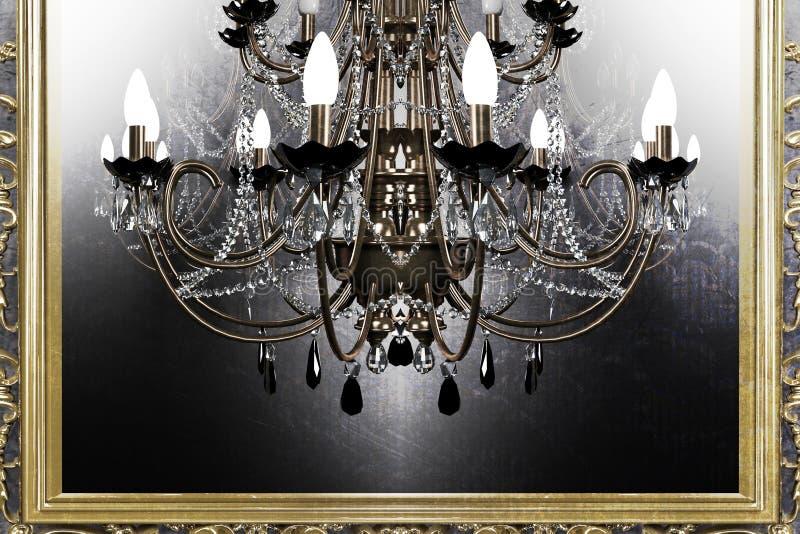 Piękny antykwarski świecznik royalty ilustracja