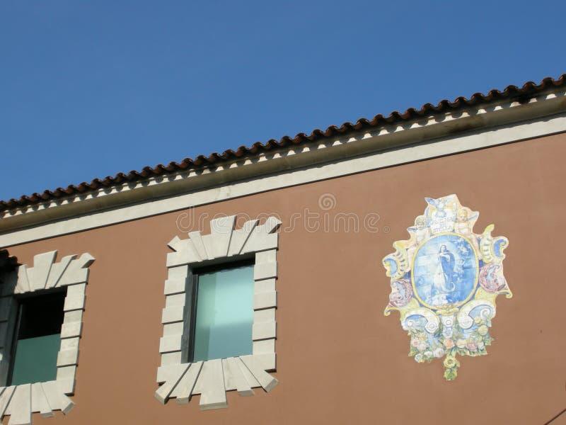 Piękny architektoniczny antyczny buduje Portugal zdjęcie stock