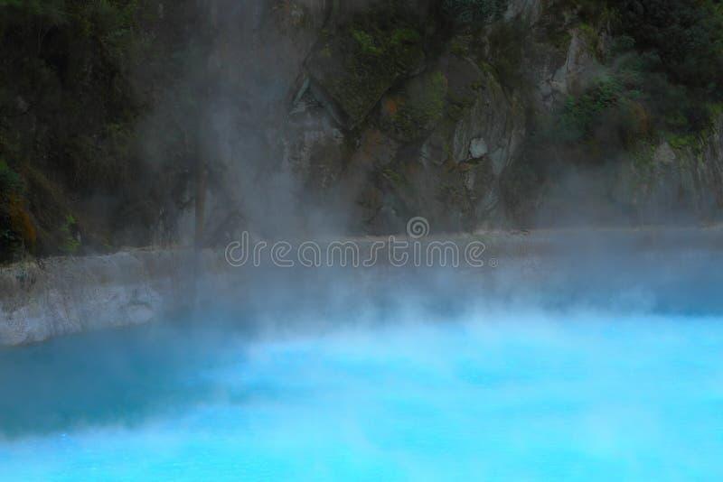 Piękny błękitny geotermiczny jezioro zdjęcia stock