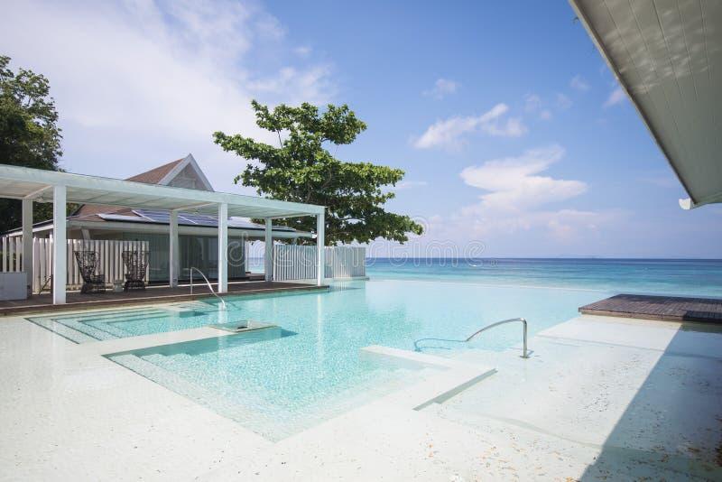 piękny basen na plaży obraz stock
