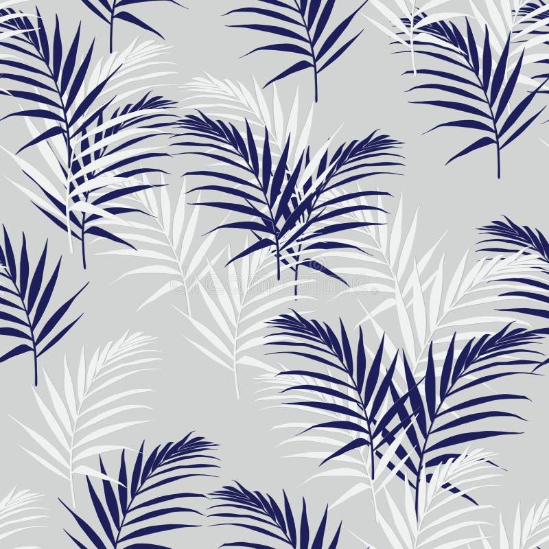 Piękny bezszwowy abstrakcjonistyczny kwiecisty wzór z palmowymi pomarańczowymi liśćmi Doskonalić dla tapet, stron internetowych t ilustracji