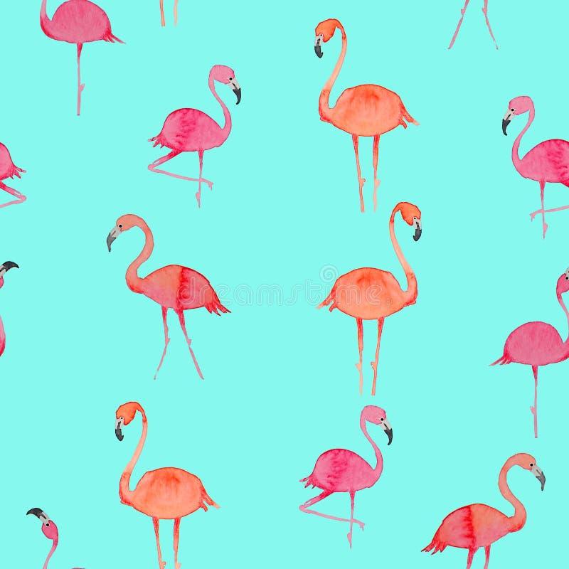 Piękny bezszwowy kwiecisty lato wzór z flamingiem Doskonalić dla tapet, stron internetowych tła, nawierzchniowe tekstury, tkanina obrazy stock