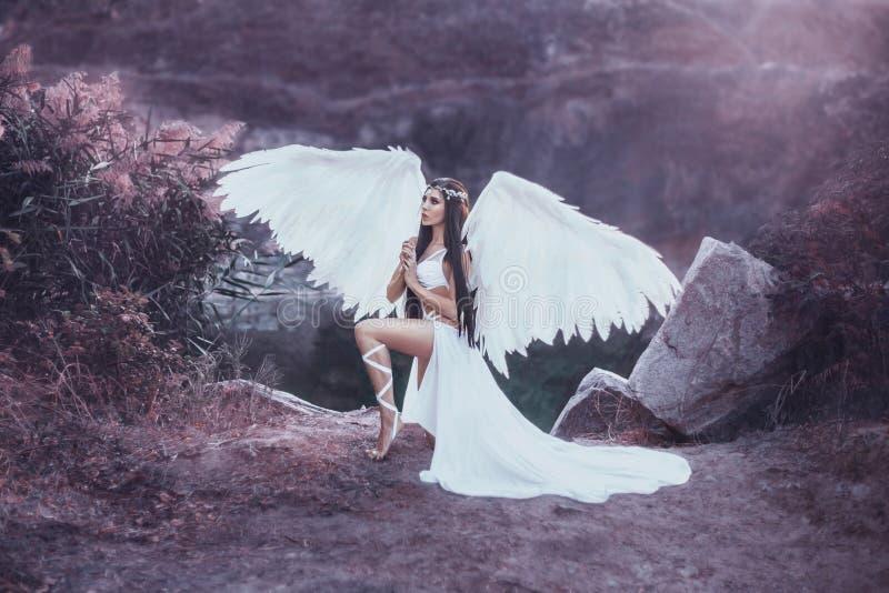 Piękny biały archanioł obrazy stock