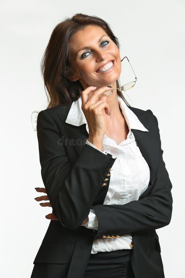 Piękny biznesowej kobiety ono uśmiecha się zdjęcie royalty free