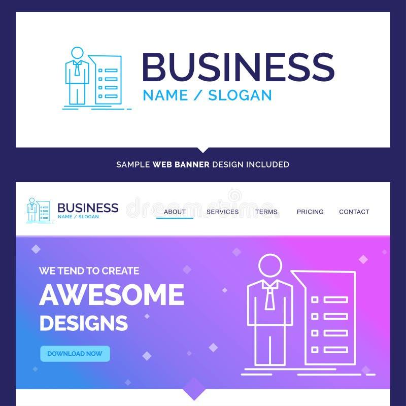 Piękny Biznesowy pojęcie gatunku imienia biznes, wyjaśnienie, gra ilustracji