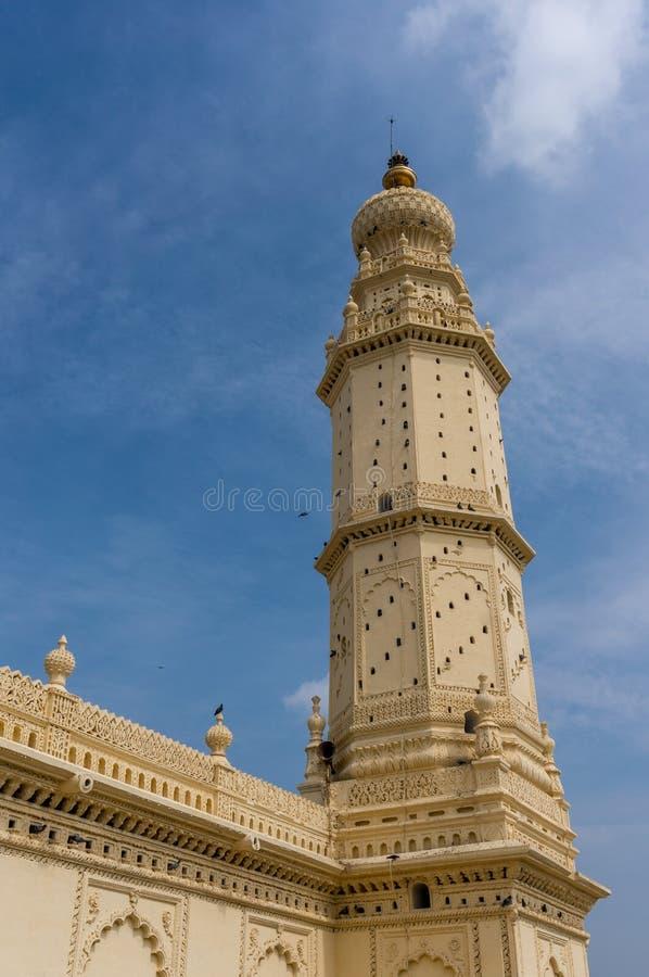 Piękny bliźniacza wieża meczet w Srirangapatna, Karnataka, India zdjęcia royalty free