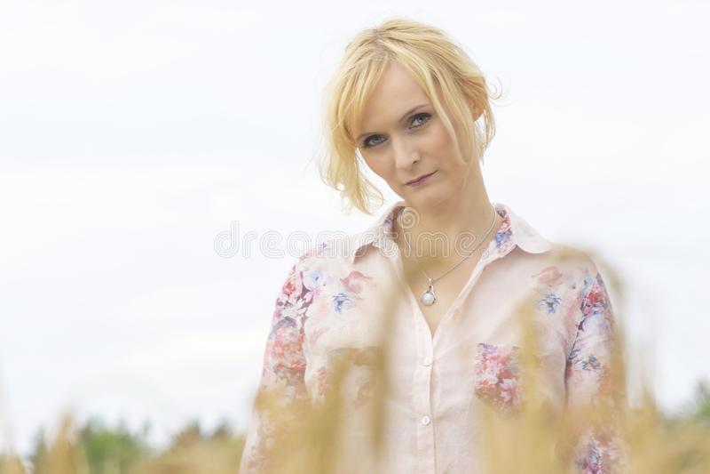 Piękny blond portret fotografia stock