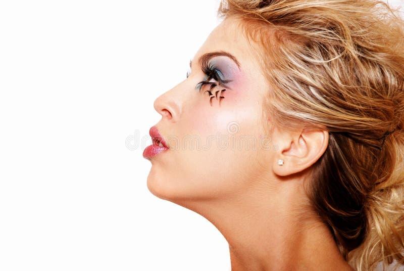 piękny blondynki dziewczyny makeup zdjęcia stock