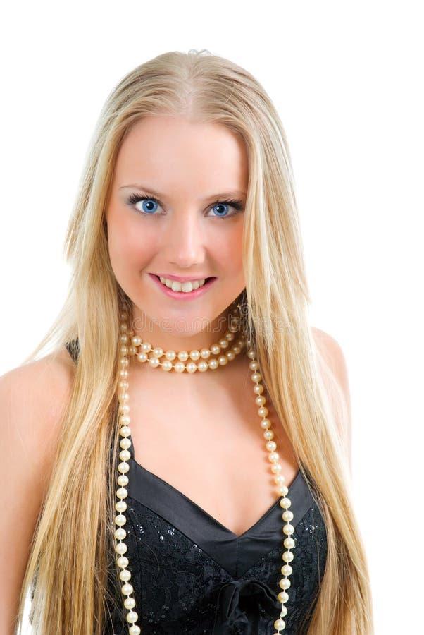 piękny blondynki mody dziewczyny portret obrazy stock