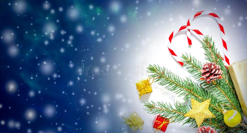 Piękny bożych narodzeń, nowego roku tło z i choinki, obrazy stock