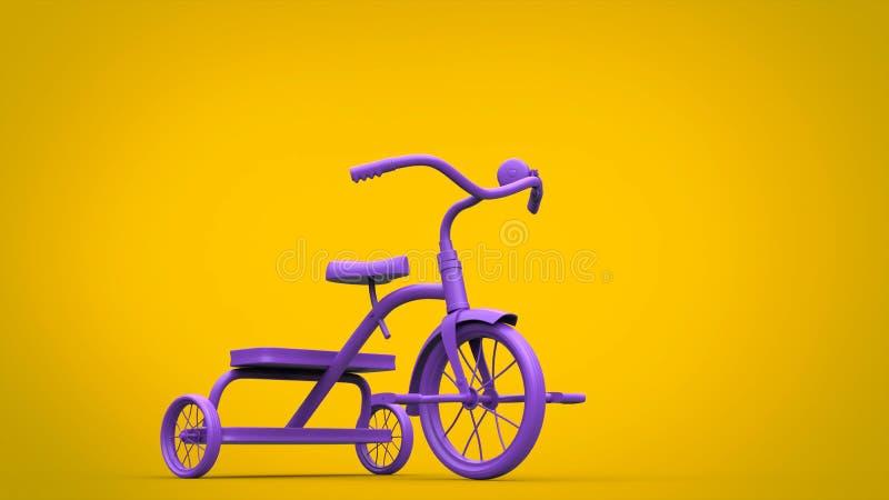 Piękny bogaty purpury zabawki trójkołowiec ilustracja wektor