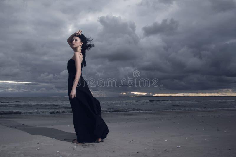 Piękny Brunete model obrazy royalty free